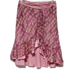 Laundry by Shelli Segal Womens Skirt Pink Silk